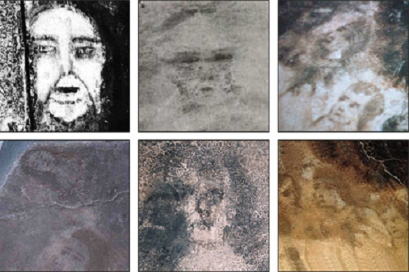Mysterious faces are formed on the floor of a house in for Give the floor